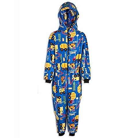 Combinaison pyjama pour enfant - unisexe - motif camions 9-11