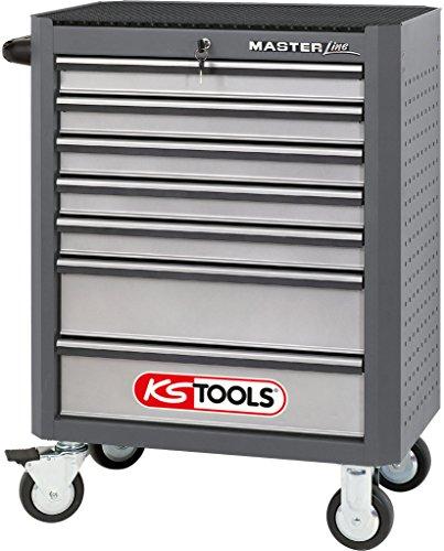 KS Tools Masterline Werkstattwagen mit 7 Schubladen, grau / silber, 875.0007