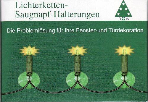 20 Saugnapf-Halterungen für Lichterketten