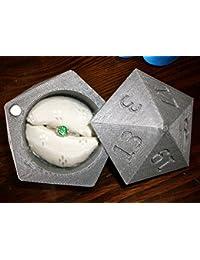 D20 Anillo caja 3d impreso caja de anillos de boda