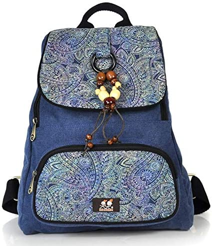 HWX Nouveau Sac à Dos en Toile imprimée, imprimée, imprimée, Sac à Dos Tout Neuf Frais pour Le Korean Trend College - Cadeau Exclusif pour   Girl (Couleur : Bleu, Taille : 30cm38cm15cm) | Supérieurs Performances  9b7221