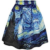 Donne ragazze abiti bella stampato in forma sottile Overknee Whirlpool