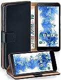 MoEx Cover a Libretto Compatibile con LG Google Nexus 5X | Fessura Carta + Soldi, Supporto, Nero