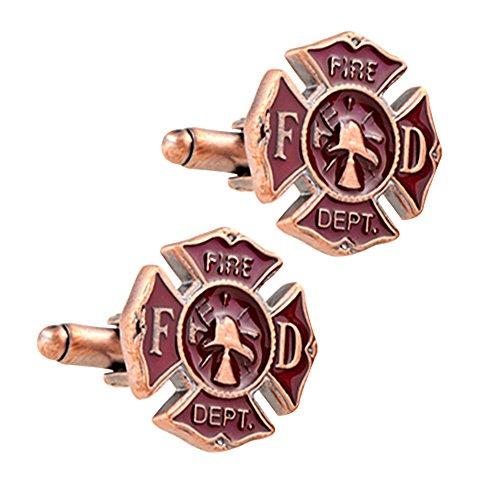 Daptsy retro Quer Feuerwehr kühlen Muster Kugel Manschettenknöpfe Metall einzigartige cufflink Männer Accessoires Manschettenknöpfe