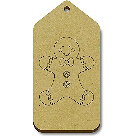 10 x 'Gingerbread Man' 66mm x 34mm Gift / Luggage Tags (TG00003054)