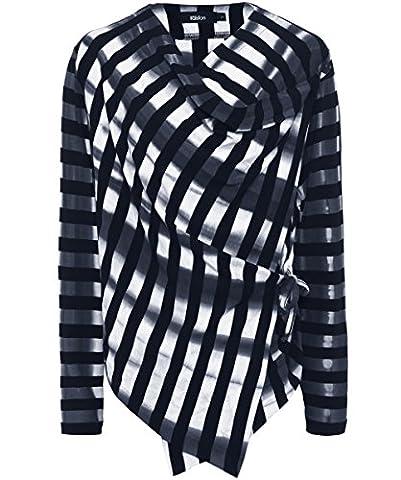 Ralston Women's Joyce Stripe Wrap Jersey Top M Multi