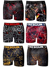 6 Boxers Freegun Homme - Lot de 6 - Tattoo
