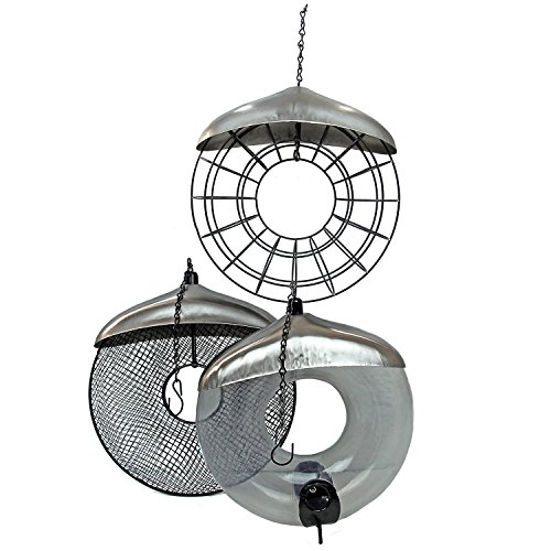Garden Mile® Deluxe Hanging Donut Suet Fat Ball Bird Feeder. Garden Bird Feeders Seed Feeder Peanut Feeder Easy Clean and Fill