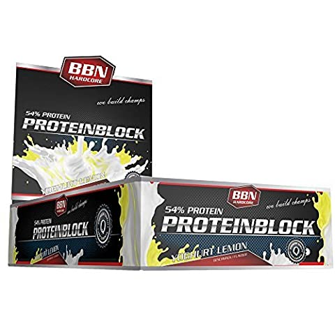 BBN Hardcore 90 g Yoghurt Lemon Protein Block - Pack of 15 by BBN Hardcore (Hardcore Protein)