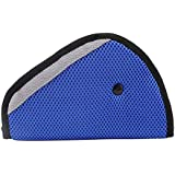 SODIAL(R) Cubierta de correa almohadilla de ajuste auto de seguridad para ninos Percha cinturon de seguridad arnes para ninos Azul