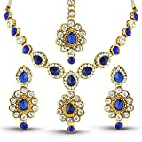 Rich Lady Blue Austrian Stone Gold Finis...