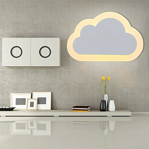 Wandlampe Kreative LED Wandleuchte Kinderzimmer - ELINKUME 12w Wandleuchten Wolkenform Acryl für Gasse, Korridor, Zimmer, Korridor, Flur (Wand Lampe Kinder)