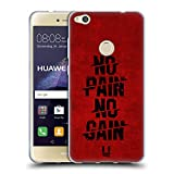Head Case Designs No Pain No Gain Fitness Typographie Soft Gel Hülle für Huawei P8 Lite (2017)