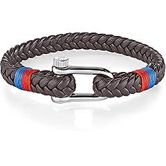 Idea Regalo - MORELLATO Bracciali di corda Uomo acciaio_inossidabile - SAJC12