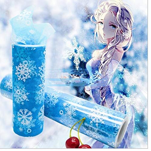 lle Rolle 15cm * 10Y Snowflake Stoff Spool Tutu-Party-Geburtstags-Geschenk-Hochzeit Bevorzugungen Ereignis ()