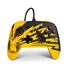 PowerA Enhanced Wired Controller for Nintendo Switch – Pikachu Lightning, Gamepad, Wired Video Game Controller, Gaming Controller
