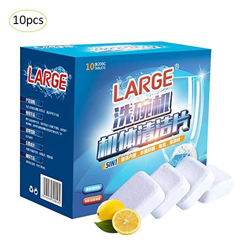 Yunhigh 10pcs Pastillas Lavavajillas Limón, detergente para
