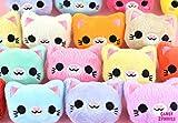 Haarspange Kawaii Katze Kitty - Katzen Haarclip Hairpuff in 3D extra weich gestickt auf Minky - 9...