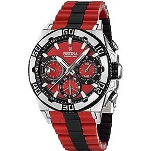 Festina Herren-Armbanduhr XL Tourchrono 2013 Chronograph Quarz verschiedene Materialien F16659/8