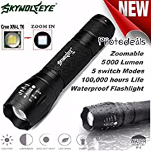 3500LM Zoombar LED Taschenlampe Siswong CREE XM-L Q5 G700 X800 3 Modus Milit/ärischer Grad Draussen Tragbar Jagd Tactical Flashlights