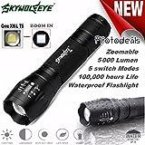 4000LM Zoombar LED Taschenlampe, Siswong CREE XM-L T6 G700 X800 5 Modus Militärischer Grad Draussen Tragbar Jagd Tactical Flashlights