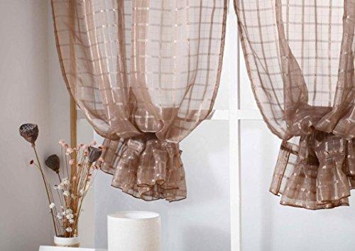 Behandlung Tücher (zycshang Hohe Qualität Einfache Spitze Gitter Farbe Gardinen Behandlung Platten Tür Tuch Modern coffee)