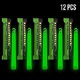 Lumistick Leuchtstäbe, 15,2 cm, einzeln verpackt, Notfall-Lichtstab - 12 Stunden hohe Intensität Glow Lights 12 grün