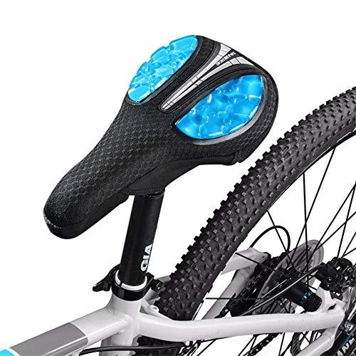 Funda De Asiento De Bicicleta De Gel Líquida 3D - Funda De Cojín De Sillín De Bicicleta, Asiento De Silicona Transpirable Para Montar En Bicicleta De Montaña Acolchado Equipo De Bicicleta Para Hombre