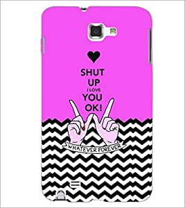 PrintDhaba Quote D-3468 Back Case Cover for SAMSUNG GALAXY NOTE 1 (Multi-Coloured)