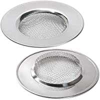 2 PCs 7.5 X 1.8 CM Bathroom Shower Hair Sewer Plug Cleaner Wash basin Metal Hairs Trap Catch Hole Bathtub Drain Catcher Bath Strainer Mesh Long Hair Filter Kitchen Sink food blockages Cleaning Tool by Ungfu Mall
