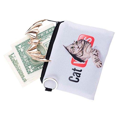 Geldbörsen, Rcool Niedliche Tier drucken Münzen Änderung Handtasche Clutch Reißverschluss Null Brieftasche Telefon Schlüsseltaschen (Hot Pink) Rot