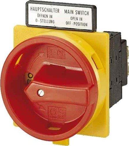 Eaton 041097 Hauptschalter, 3-polig, 25 A, not-aus-Funktion, abschließbar in 0-Stellung, Einbau -