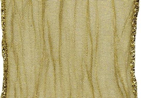 Caspari Sheer Crepe Wired Ribbon, Gold