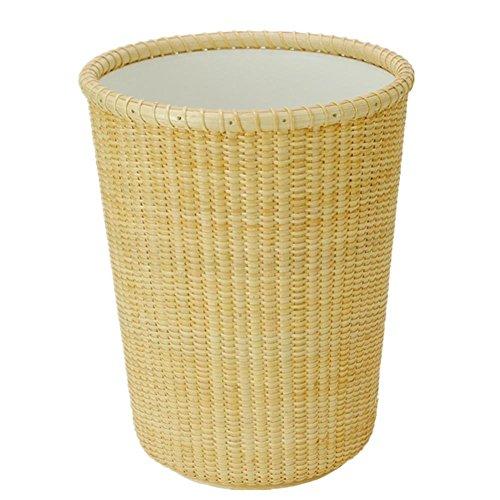 LIYONGDONG® Mülleimer Rattan Weave Lagerfässer Bürobedarf Papierkorb keine Abdeckung kreative Mülleimer Windel Caddy Lila
