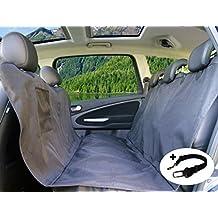 PiCoon Cubierta asiento de Perro Mascotas y Viajes con Hebilla de Seguridad / protector coche perros, color negro, impermeable, con cinturón de seguridad, para todos los modelos de coches, 160cm x 143cm