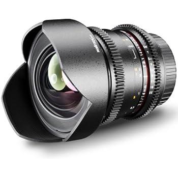 Walimex Pro 14mm 1:3,1 VCSC Foto- und Videoobjektiv für Sony E-Mount Objektivbajonett schwarz(manueller Fokus, für Vollformat Sensor gerechnet, stufenlose Blendeneinstellung, fester Gegenlichtblende)