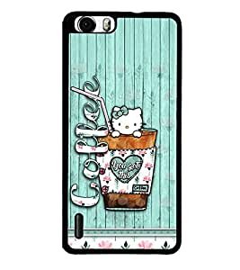 Coffee 2D Hard Polycarbonate Designer Back Case Cover for Huawei Honor 6
