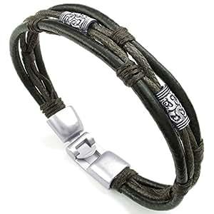 Konov Jewellery Mens Womens Leather Rope Bracelet, Tribal ... - photo #42