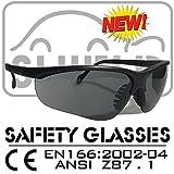 SHIELD *SHOOTER* grey polarized Sport Schutzbrille, Sicherheitsbrille, Schießbrille, Arbeitsschutzbrille nach DIN EN-166, Bikerbrille