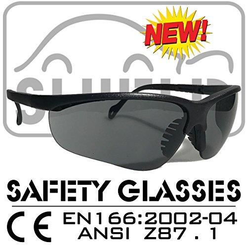 Shield *Shooter* Grey Polarized Sport Schutzbrille, Sicherheitsbrille, Schießbrille,...