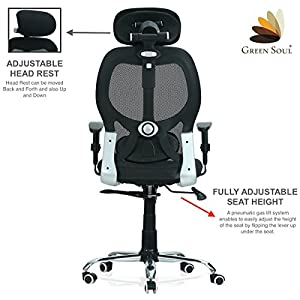 Green Soul® NewYork High Back Fully Functional Executive Office Chair (Black) (+5 Colors) (Best Rated)