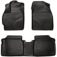Husky Liners Custom Fit WeatherBeater Molded Front and Second Seat Floor Liner for Select Toyota (Weathertech Cargo Mat)