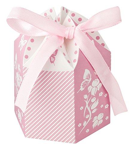 Kleenes Traumhandel 30 Gastgeschenkboxen zur Taufe & Geburt & Hochzeit - 8x6x6 cm (Rosa)