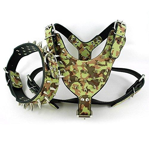 Valoxin(TM) Pelle Camouflage fissato appuntito Amy collare