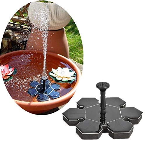 WMING Home Solar Power Bird Bad Brunnen Wasserpumpe schwimmenden kleinen Teich Gartenterrasse Dekoration (schwarz) (Color : Black) Solar Power Gadget