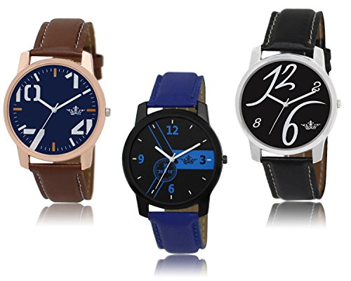 Men Watch ( New Lowest Price Combo of 3 Watches With Free Shipping Limited Stock!)
