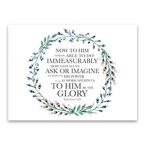 Great Love Bibel Vers Print | Epheser 3: 20| Freundschaft, Ehe, Geburtstag, Jahrestag Rahmen Geschenk, Print Only, 21 x 30 cm