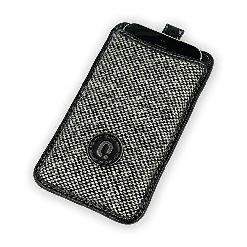 QIOTTI Q.Pouch Chic für Smartphone (Größe: M) schwarz/weiß