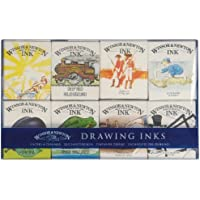 Winsor & Newton William - Colección de tintas para dibujo, 8 frascos de 14 ml