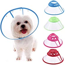 LianLe® -La prevención de agravar una herida o lesión,Collar del cono para mascotas,perro,gato,ajustable,impermeable,Collar Cone for Dog,color al azar, L(cuello 31-36cm)